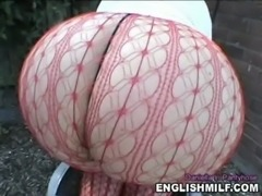 Big ass UK pawg Milf in fishnet pantyhose & thong free