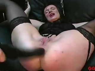 That's right! She is one of the hottest and NASTIEST MILFS ever and you're going to see her in action! Amazing!!! Watch this brunette MILF receive pussy, ass and mouth fucking and swallow warm piss and cum now!