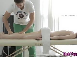 Teen babe gets sensual massage