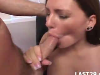 Hot brunette gets slammed