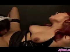 Helpless maid choiceless in her encounter with Asian lesbian dominator.