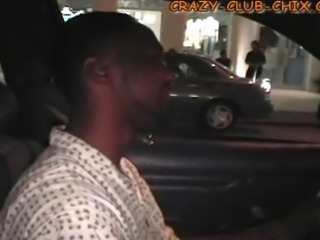 A Haitian cab driver doesn't know what to make of his fare - a guy in the front filming a girl flashing in the back seat. She sits forward to flirt with the driver, rubbing his crotch.