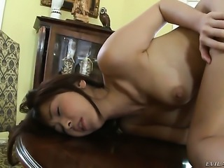 Asian Henessy S lets Marica Hase stick her tongue in her lesbian twat