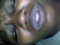 nasty black milf gets a facial free