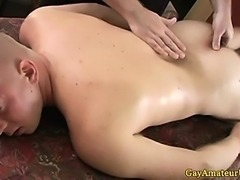 Straight amateur hunk in anal play