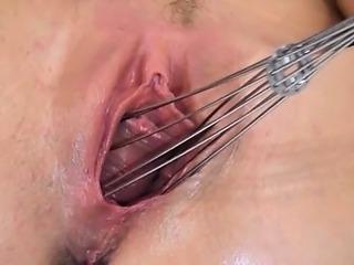 Czech fairhair fingering on kitchen unit