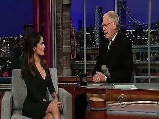 Here is a video of Salma Hayek from her Late Show with