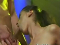 Busty stripper babe gets hard fucked sex on the stage