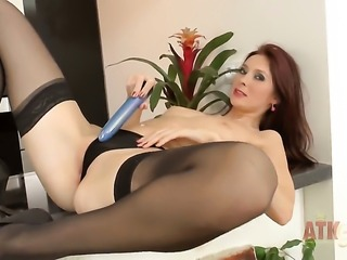 Kattie Gold enjoys another solo sex session