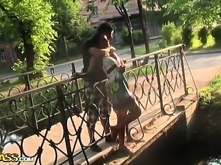 Hot ass girl having sex in the park