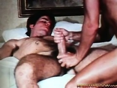 2 thin men can't keep their hands of each others hard cocks