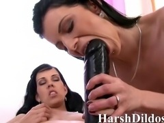 lesbo couple and a real big toy
