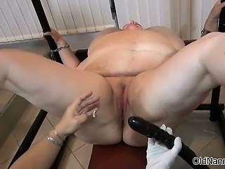 Fetish mistress abusing a horny mature