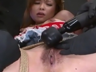Classic Japanese S&M scene, she is tormented with intense bdsm humiliation and sexual punishment