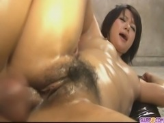 Horny babe pussy fondled and fucked hard in threesome free