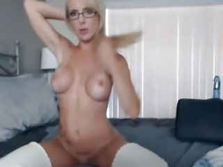 Cute Busty Blonde Masturbating