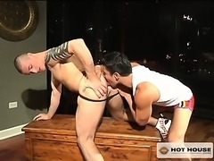 Horny hunks get their cocks super hard with some hot rimming