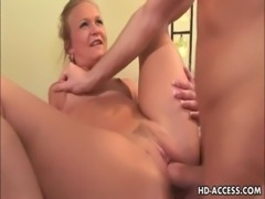 Mature MILF takes it in every hole free