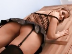Hot Babe Fucked On Her Ass And Mouth