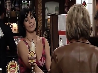 Kym Marsh showing us her busty cleavage in various scenes