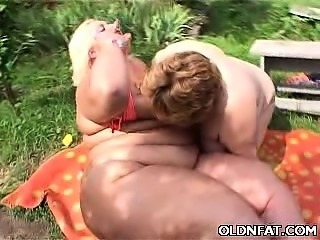 Fat Mature Women Enjoy Lesbian Oral