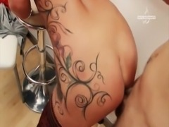 Very hot tattooed Milf from Germany getting fucked at the locker rooms free