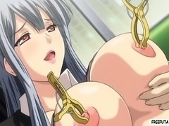 Cute little hentai dickgirl gets fucked on the subway