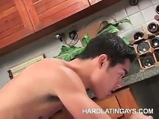 Gay Latinos Having Anal in the Kitchen