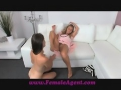 FemaleAgent MILF strikes it lucky with a vision of beauty free