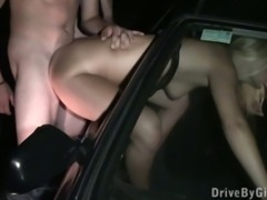Teen girl with two boys anonymous public orgy Part 3