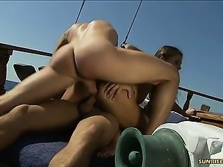Rita Faltoyano double penetration on the boat