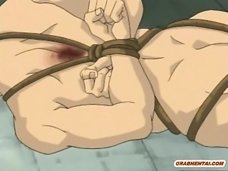 Bondage hentai brutally hard fucked