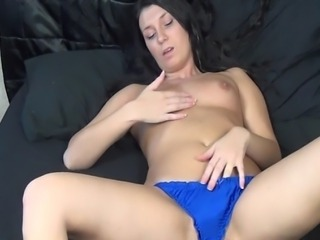 Jennifer had never used any kind of sex toy before, and we filmed her first experience masturbating with a vibrator.  Even though she had it on low, she got quite wet and it worked.