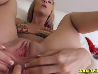 Anal first timer girlfriend in analplay