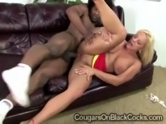 Blonde cougar Alexis Golden gets her twat smashed hard by brotha free