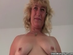 Fuckable grandma spreads her old pussy wide free