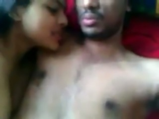 Cute indian young couple record their smart fucking free