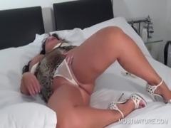 Slutty mature touching herself free