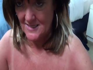 behind the scenes blowjob video I shot of this huge boobs milf.  Gotta love these awesome large natural tits.