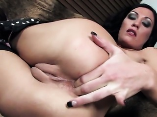 Yummy minx gets her back door opened by anal intruder