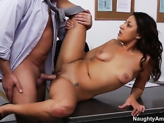 Alec Knight is one hard-dicked stud who loves fucking Gorgeously sexy hussy Gigi Loren
