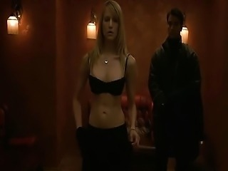 Lori Heuring nude as she has sex with a guy in bed, showing