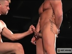 Super sexy muscle guys having fun with their asses and cocks