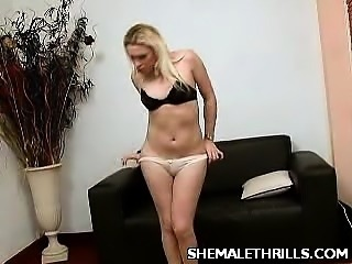 Shemale Catalina Solo Stroking