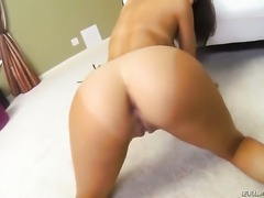 Dillion Harper shows off her hot body as she gets her mouth fucked
