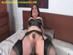 Cougar Swallows Black Cum free