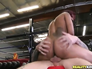 Piercings ebony Skin Diamond gets throat fucked hard by Cody Sky