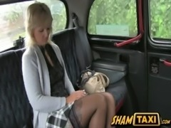 Blonde milf gets her hairy pussy covered in cum during taxi ride free