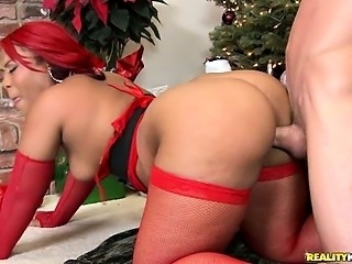 Luscious and her BIG ASS rides some dick  then gets it