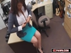 Milf needs money and goes down on her knees to suck my cock free